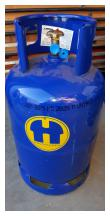 Gasfles groot 10,5 liter ( terrasverwaming)