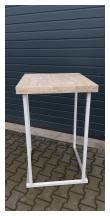 Sta tafel kubo smart met steigerhouten blad